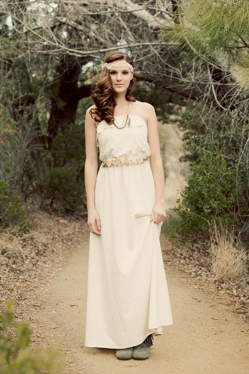 Bohemian wedding ideas 2013 for Nature themed wedding dress