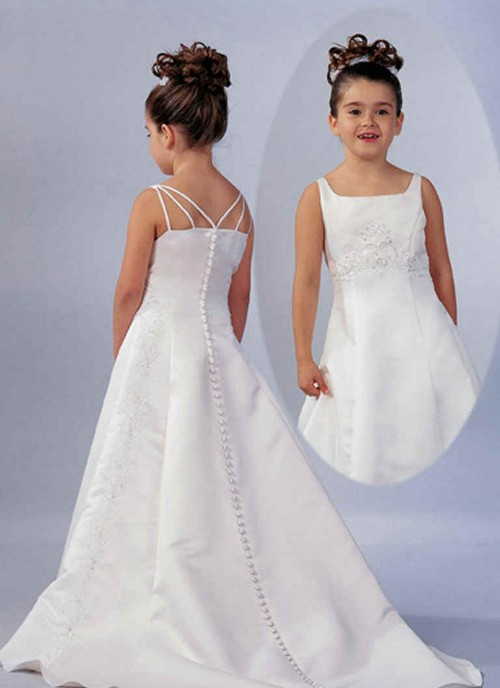 Litle girls white wedding dresses for Wedding dresses for young girls