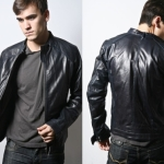 Black leather jacket styles men