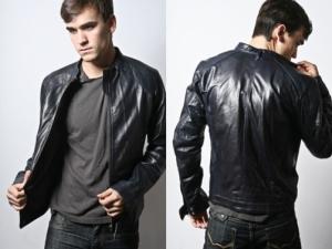 Black leather jacket styles men