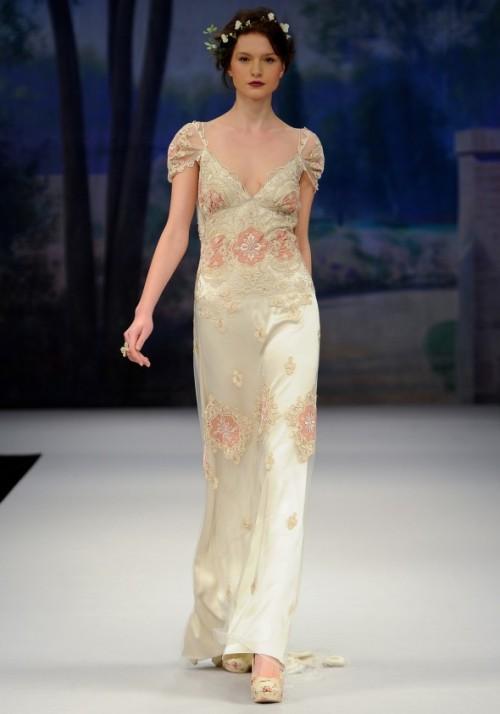 Boho chic wedding gown 2013