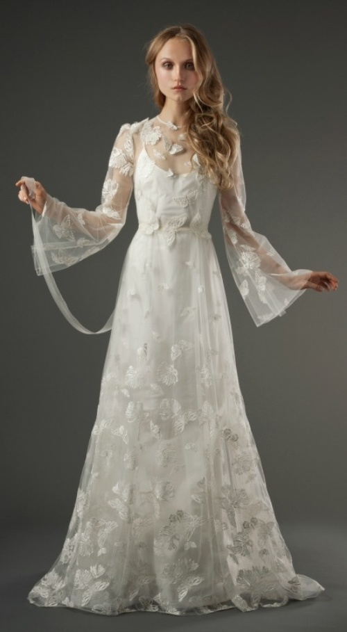Boho chic wedding gown pictures