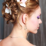 Flower wedding hairstyles ideas