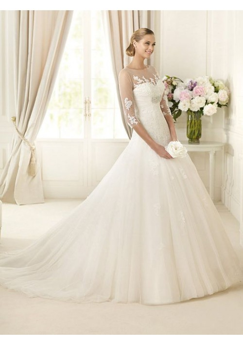 wedding gown with sleeves 2013