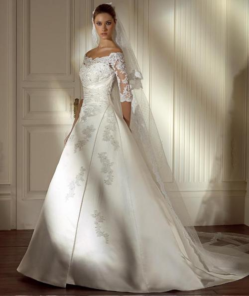 Wedding Gowns With Sleeves Pictures