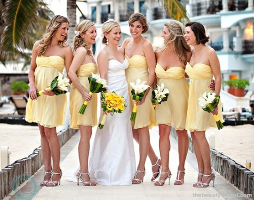 Beach Bridesmaid Dresses Blue