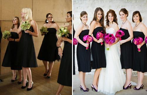 Cheap Black N White Wedding Dresses: Black Bridesmaids Dresses Long