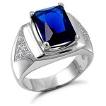 blue sapphire rings for men