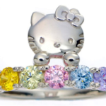 hello kitty engagement ring swarovski