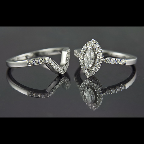 marquise engagement ring design - Marquise Diamond Wedding Ring