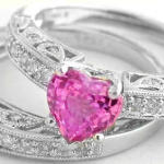 pink wedding ring sets trend
