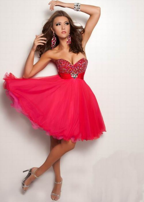Red Homecoming Dresses With The Best Makeup - Di Candia ...