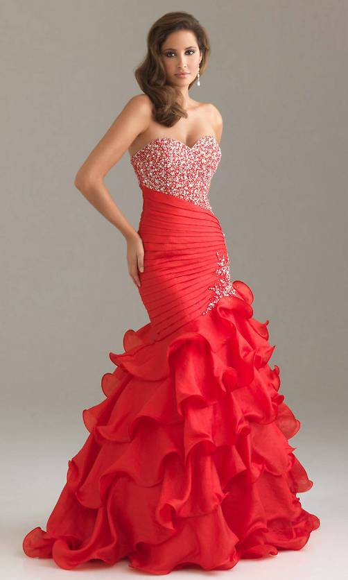 Red Prom Gowns 2013