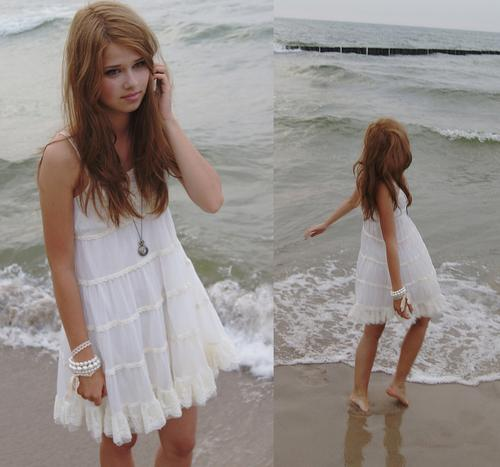 white beach dresses 2012