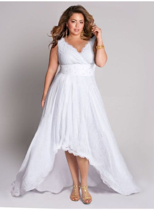 White Cocktail Dresses For Plus Size Women Di Candia Fashion
