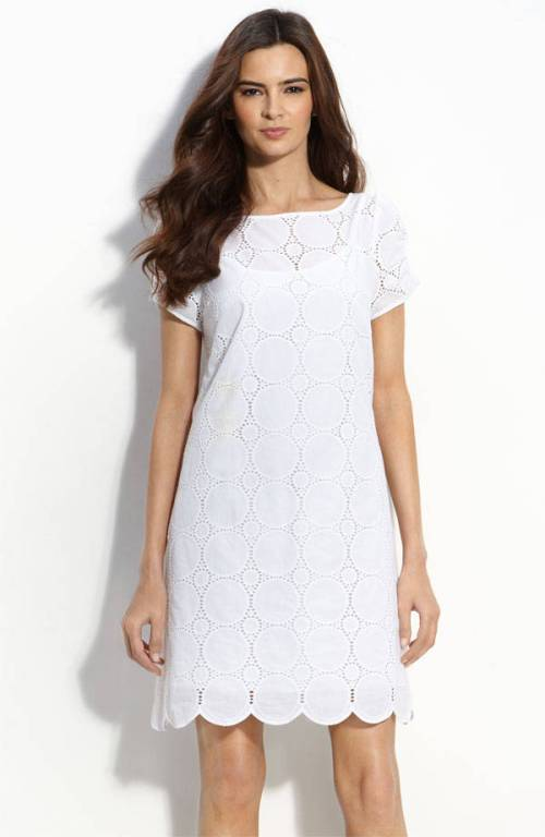 Sewing with Eyelet Fabric. June 28, Zenith White – Embroidery Anglaise, White % Cotton all-over embroidered eyelet lace from Tessuti in Sydney, Australia; Telio Ava Eyelet, Royal Blue, Dresses, skirts, even shorts are beautiful and breezy in eyelet fabrics.