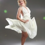 white halter dress marilyn