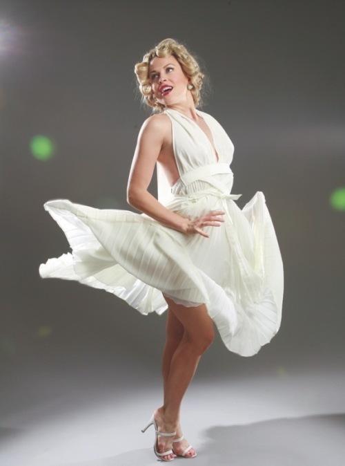 white halter dress marilyn