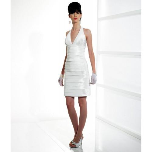 white halter dress short