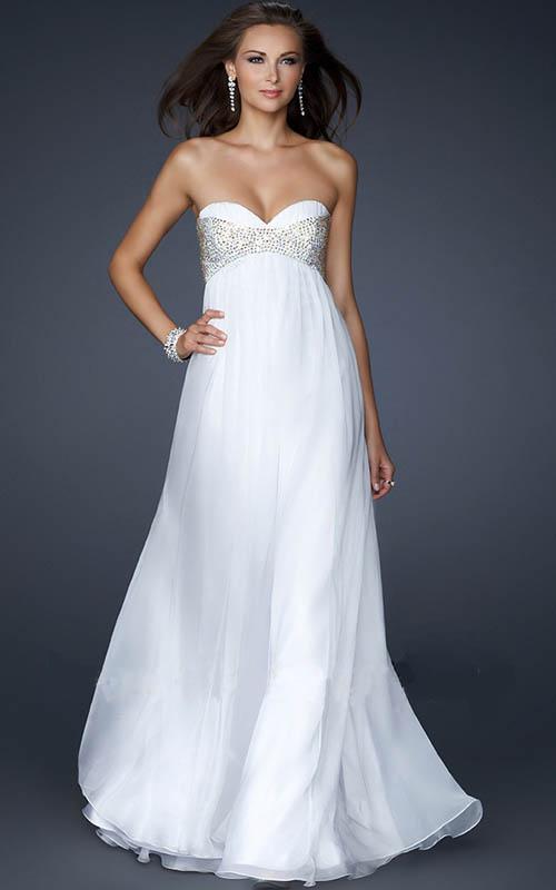 white prom dresses 2013