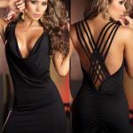Sexy black club dress 2013