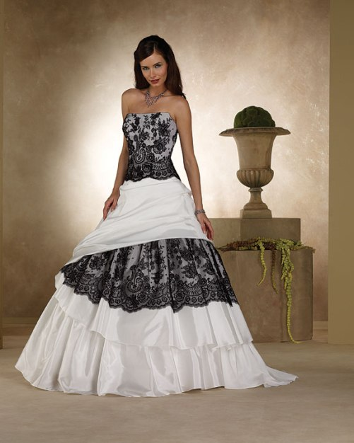 Black and white wedding dress for sale for Black designer wedding dresses