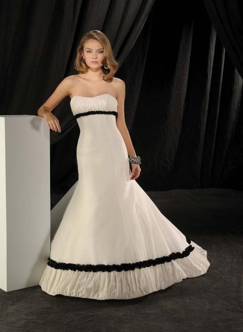 black and white wedding dress for sale - Di Candia Fashion