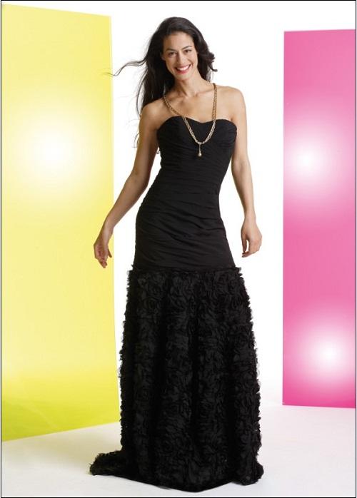 Black Strapless Dress Long