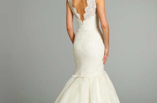 Lace Back Wedding Dress For Sale