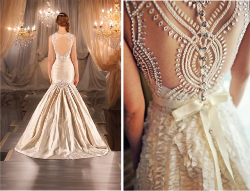 Lace Back Wedding Dress Uk