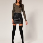 leather mini skirt looks