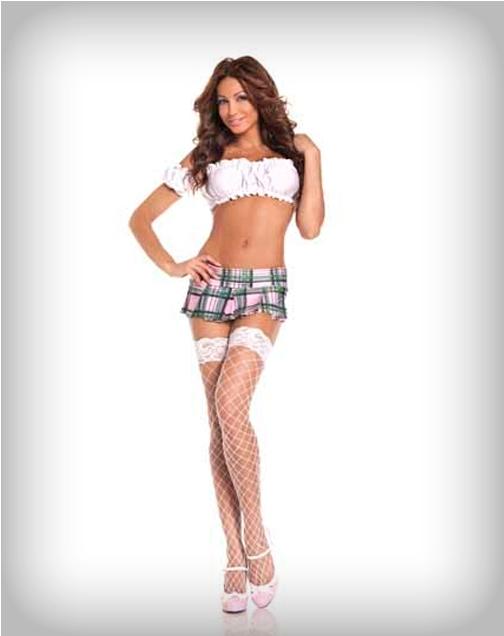 plaid mini skirt for women