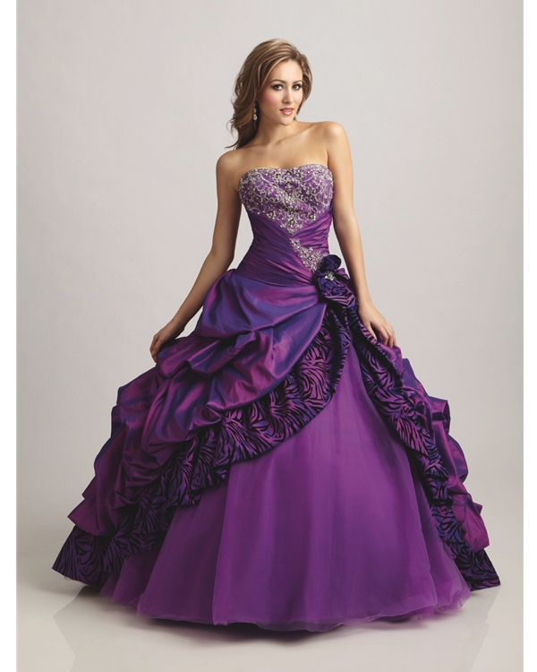 Purple Wedding Dresses Uk