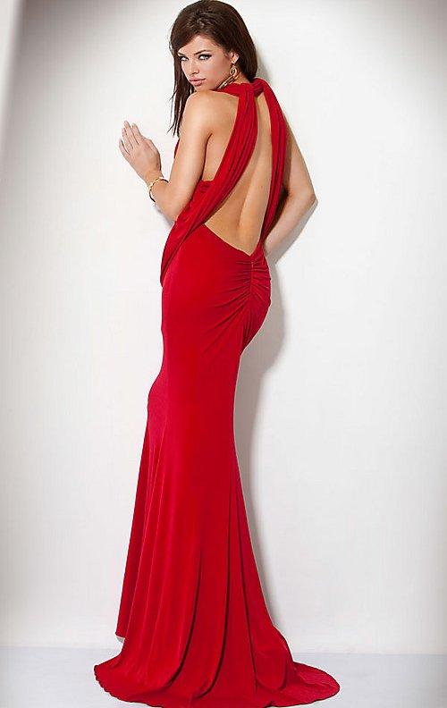 Red Open Back Prom Dresses Di Candia Fashion