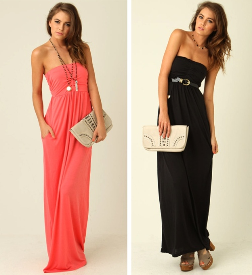 strapless maxi dress pattern