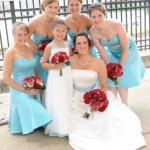 tiffany blue bridesmaid dresses cheap