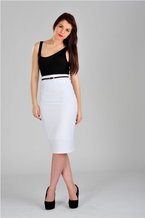 white pencil skirt plus size