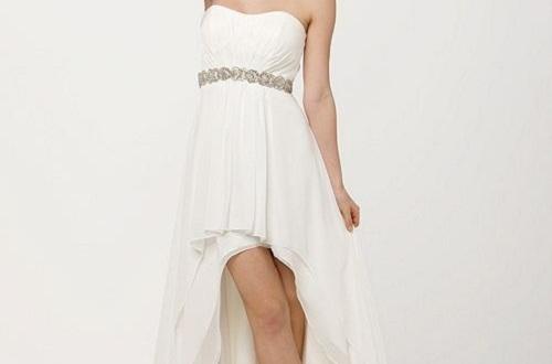 white strapless dress short
