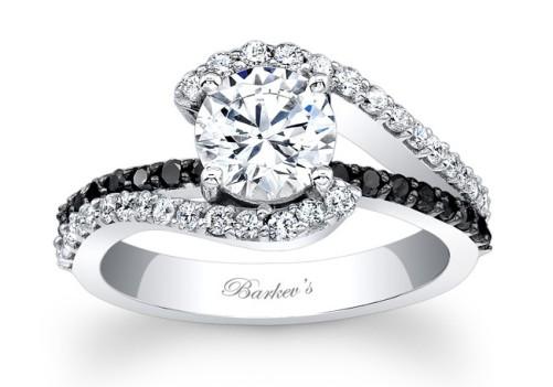 Black diamond engagement rings for women for Black diamond wedding rings for women