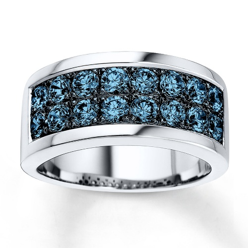 Cheap Blue Diamond Wedding Rings