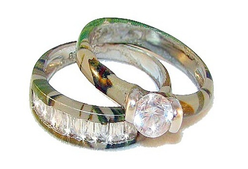Camo Wedding Rings Sets