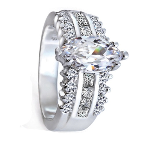 Silver Diamond Engagement Rings For Women