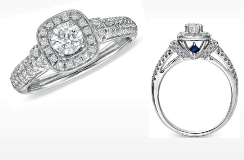 Vera Wang Engagement Rings Blue Sapphire