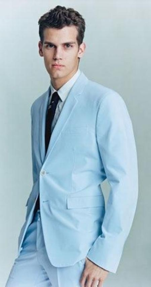 Baby Blue Wedding Suits For Men Di Candia Fashion