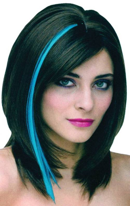 Black Hair With Neon Blue Highlights Di Candia Fashion