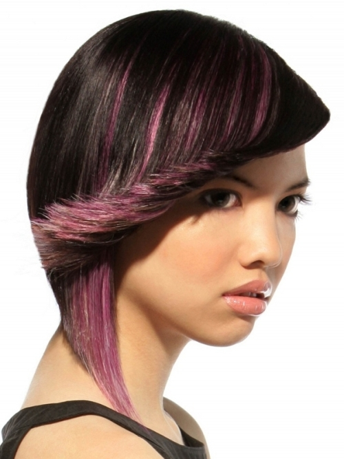 Black Hair With Violet Highlights Pictures