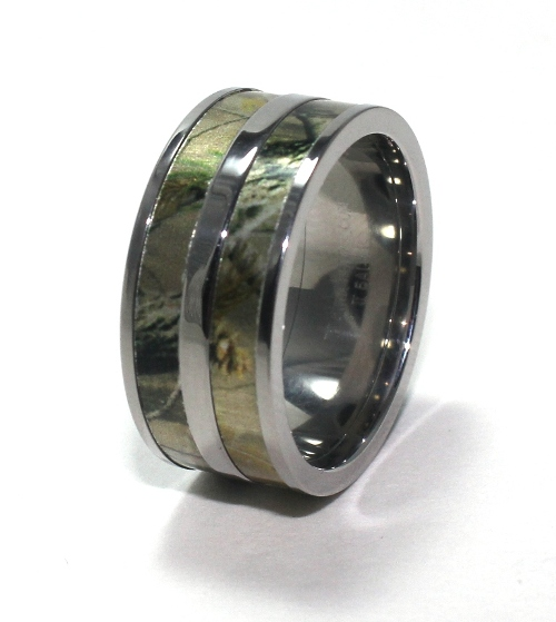 camo wedding ring for men