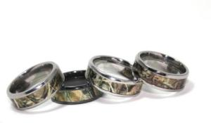 camo wedding ring sets