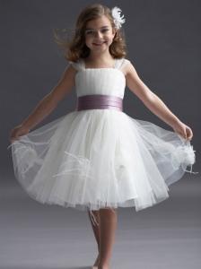flower girl dresses chiffon white