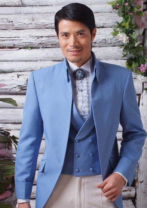 light blue wedding suits for men - Di Candia Fashion
